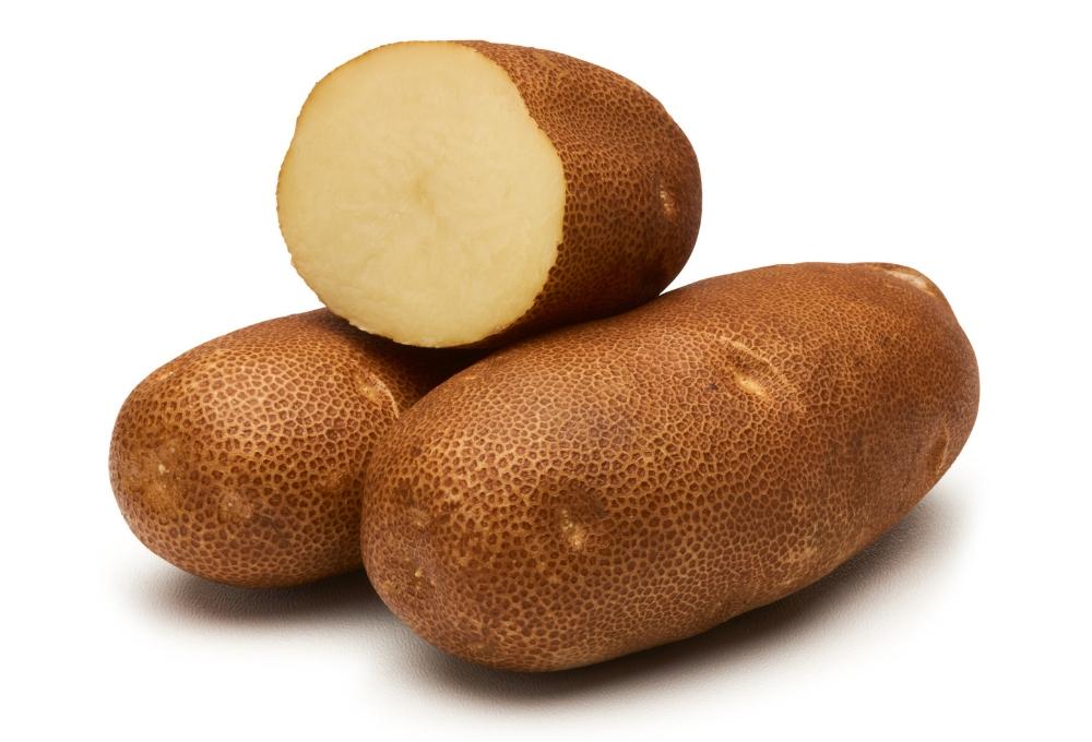 halved potato