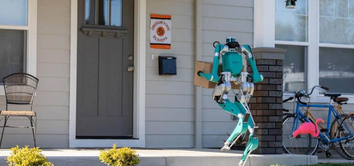 Agility's two-legged robot, Digit